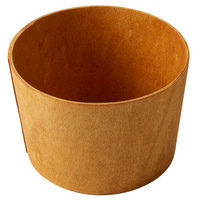 American Metalcraft PW64 6 3/8 inch Round Natural Poplar Wood Basket