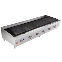 Cooking Performance Group CBR72-NG(CPG) 72 inch Gas Radiant Charbroiler - 240,000 BTU