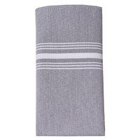 Snap Drape 54251822NH014 Chambray 18 inch x 22 inch Black Striped Cloth Napkin - 12/Pack