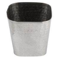 American Metalcraft FCH325 18 oz. Square Hammered Stainless Steel Fry Cup