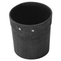 American Metalcraft PWBB4 4 inch Round Black Poplar Wood Basket