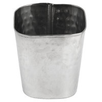 American Metalcraft FCH35 12 oz. Square Hammered Stainless Steel Fry Cup