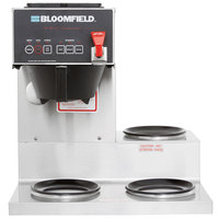 Bloomfield 4A-1072D3F E.B.C. 3 Warmer Right Stepped Automatic Coffee Brewer - Touchpad Controls, 120V