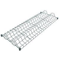 Regency 24 inch x 60 inch Green Epoxy Wire Drying Rack Shelf - 3 inch Slots