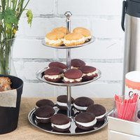 American Metalcraft STS3 3 Tier Stainless Steel Display Stand
