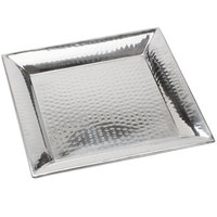 American Metalcraft HMSQ14 14 inch Square Hammered Stainless Steel Tray