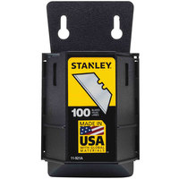 Stanley 11921A Wall Mount Utility Knife Blade Dispenser - 100/Pack