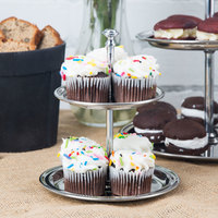 American Metalcraft STS2 2 Tier Stainless Steel Display Stand