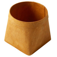 American Metalcraft PW6 5 5/8 inch Square Natural Poplar Wood Basket