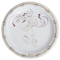 Dart Solo HWP9-J8001 Symphony 9 inch Heavy Weight Paper Plate - 125 / Pack