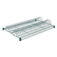 Regency 24 inch x 36 inch Green Epoxy Wire Drying Rack Shelf - 1 1/4 inch Slots