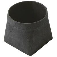 American Metalcraft PWB4 4 1/8 inch Square Black Poplar Wood Basket