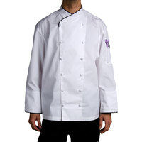 Chef Revival Gold J008-M Men's Chef-Tex Size 42 (M) Customizable Poly-Cotton Corporate Chef Jacket with Black Piping