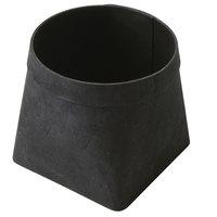 American Metalcraft PWB6 5 5/8 inch Square Black Poplar Wood Basket