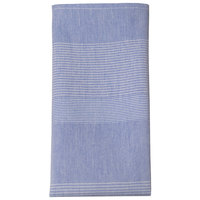 Snap Drape 54361822NH763 Blue Transition Striped Cloth Napkins, 18 inch x 22 inch - 12/Pack