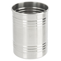 American Metalcraft SCS3 12 oz. Three Ring Silver Stainless Steel Soup Can