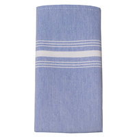 Snap Drape 54251822NH002 Chambray 18 inch x 22 inch Blue Striped Cloth Napkin - 12/Pack