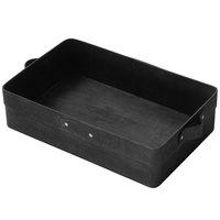 American Metalcraft PWBB12 12 3/8 inch x 7 1/4 inch Rectangular Black Poplar Wood Basket