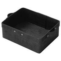 American Metalcraft PWBB10 8 1/2 inch x 5 3/4 inch Rectangular Black Poplar Wood Basket