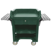 Cambro VCSWR519 Green Versa Cart with Dual Tray Rails and Standard Casters