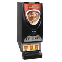 Bunn 38600.0054 iMIX-3S Silver Series Oatmeal Dispensing System with 3 Hoppers and Illuminated Graphics