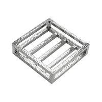 American Metalcraft HMCS Vidacasa 9 1/8 inch Square Hammered Stainless Steel Frame Crate