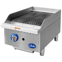 Globe GCB15G-SR 15 inch Gas Charbroiler with Stainless Steel Radiants - 40,000 BTU