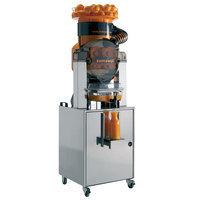 Zumoval Heavy-Duty Compact Automatic Feed Orange Juice Machine with Self Service Stand - 45 Oranges / Minute