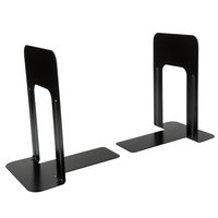 MMF Industries 241009104 Steelmaster 9 inch Black Steel Deluxe Bookends