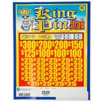 King Pin Joe 5 Window Pull Tab Tickets - 2520 Tickets per Deal - Total Payout: $2000
