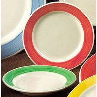 CAC R-115-R Rainbow Pasta Bowl 24 oz. - Red - 12/Case