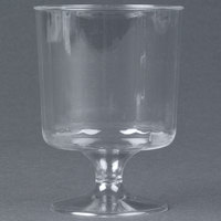WNA Comet CCW5240 Classicware 5 oz. 1-Piece Clear Plastic Pedestal Wine Cup   - 10/Pack