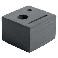 Menu Solutions WDBLOCK-CHECK 3 1/2 inch x 3 1/2 inch x 2 1/2 inch Customizable Ash Wood Block Check Presenter