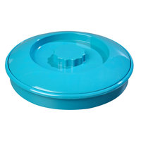 Carlisle 047015 7 1/4 inch Polycarbonate Turquoise Tortilla Server, Interlock Lid - 24/Case
