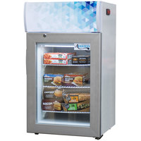 Avantco CFM2LG White Countertop Freezer with Swing Door and Merchandising Panel