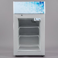 Avantco CFM2LG White Countertop Freezer with Swing Door and Merchandising Panel