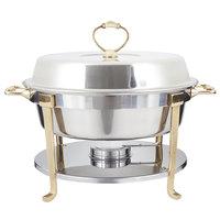 Vollrath 46030 5.8 Qt. Classic Brass Trim Round Chafer