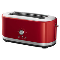 KitchenAid KMT4116ER Empire Red 4 Slice Long Slot Toaster with High Lift Lever - 120V