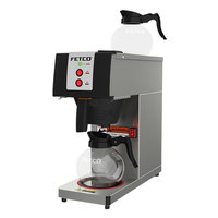 Fetco CBS-2121-PW C212111 Stainless Steel Pourover Coffee Maker with 2 Warmers - 120V