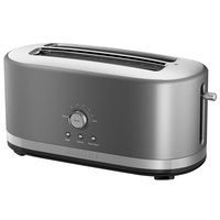 KitchenAid KMT4116CU Contour Silver 4 Slice Long Slot Toaster with High Lift Lever - 120V