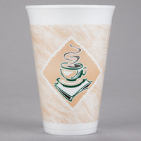 Dart 16X16G 16 oz. Customizable Espresso Foam Cup - 1000/Case