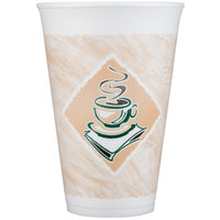 Dart Solo 16X16G 16 oz. Customizable Espresso Foam Cup - 1000/Case