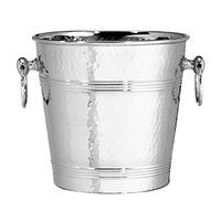 Tablecraft 5198 8 Qt. Hammered Stainless Steel Wine Bucket