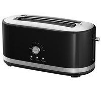 KitchenAid KMT4116OB Onyx Black 4 Slice Long Slot Toaster with High Lift Lever - 120V