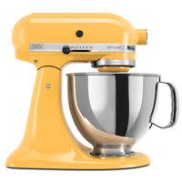 KitchenAid KSM150PSBF Artisan Series Buttercup 5 Qt. Tilt Head Countertop Mixer - 120V