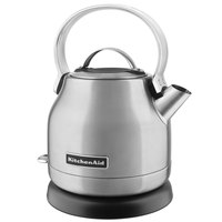 KitchenAid KEK1222SX 1.25 Brushed Stainless Steel Electric Kettle - 120V, 1500W