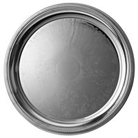 Vollrath 82102 Elegant Reflections 18 5/8 inch Stainless Steel Round Serving Tray