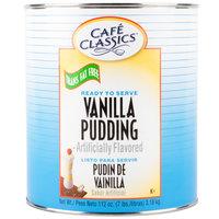 Cafe Classics Trans Fat Free Vanilla Pudding #10 Can   - 6/Case