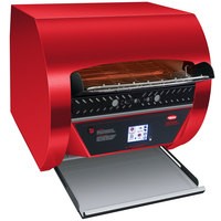 Hatco TQ3-2000 Toast Qwik Red Conveyor Toaster with 2 inch Opening and Digital Controls - 240V, 4020W