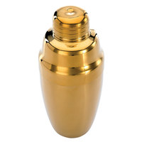 Mercer Culinary M37038GD Barfly 17 oz. 3-Piece Gold Plated Heavy Weight Shaker Set